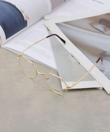 COLONY 2139(コロニー トゥーワンスリーナイン) 《UVカット99%》変形フレーム伊達眼鏡/サングラス