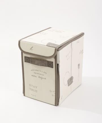 3COINS(スリーコインズ) 【一部大型店舗限定】フタ付前開き収納BOX