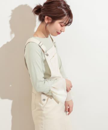natural couture(ナチュラルクチュール) 袖口シフォンひらりテレコメローT