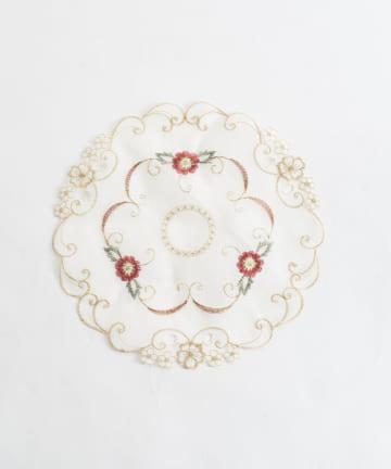 Lattice(ラティス) 【韓国風インテリア】刺繍レースミニクロス