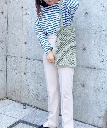 Lattice(ラティス) マクラメ編みトートバッグ