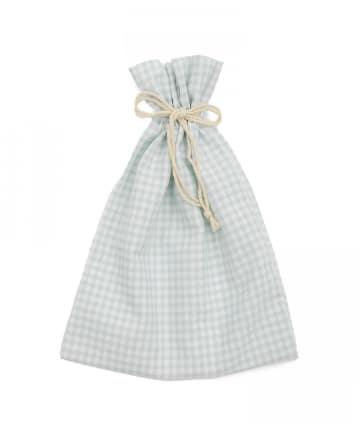 Lattice(ラティス) 【WEB限定】ギンガムチェック巾着ポーチL