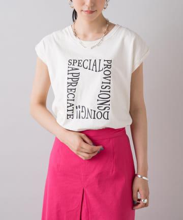 Loungedress(ラウンジドレス) 【+81BRANCA/ハチイチブランカ】Pigment logo Tシャツ