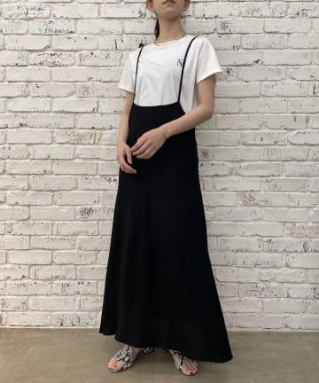 Loungedress(ラウンジドレス) 【WEB限定】麻調スクエアバックジャンパースカート