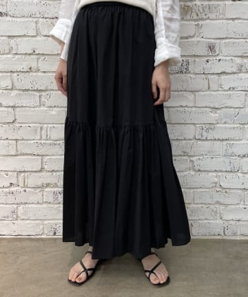 Loungedress(ラウンジドレス) 【WEB限定】コットン2段ティアードスカート