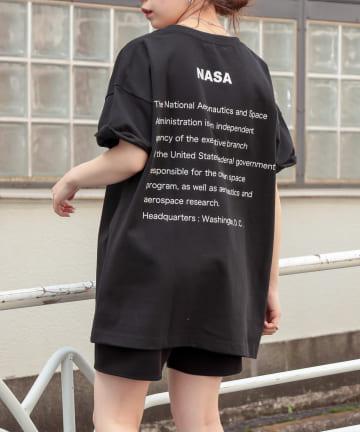 who's who Chico(フーズフーチコ) NASAフロントビックロゴ半袖Tシャツ