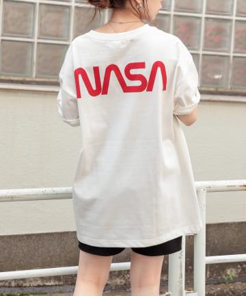 who's who Chico(フーズフーチコ) NASAバックロゴ半袖Tシャツ