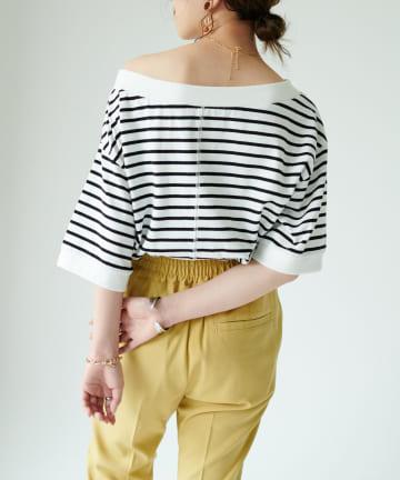 Discoat(ディスコート) オフショルショートTシャツ