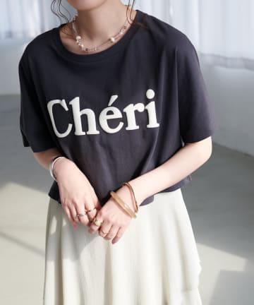 Discoat(ディスコート) 発泡プリントショートTシャツ