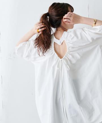 Discoat(ディスコート) ブロードバックギャザーシャツ