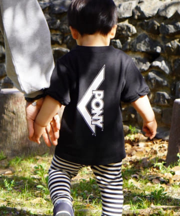 who's who Chico(フーズフーチコ) Kids PONYバックロゴ半袖Tシャツ