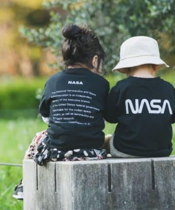 who's who Chico(フーズフーチコ) Kids NASAフロントビックロゴ半袖Tシャツ