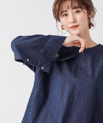 OUTLET premium(アウトレット プレミアム) 【手洗い可】2WAYデニムチュニックシャツ
