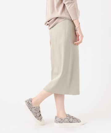 OUTLET premium(アウトレット プレミアム) 【《ON/OFF着回し抜群な一枚》手洗い可】タックタイトスカート
