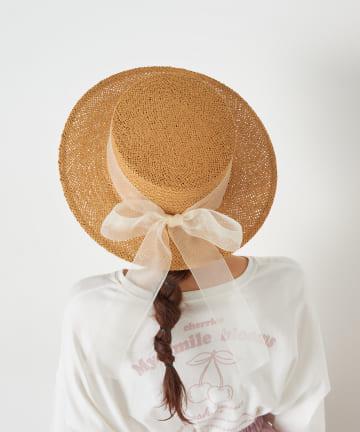 OLIVE des OLIVE(オリーブ デ オリーブ) オーガンリボンカンカン帽
