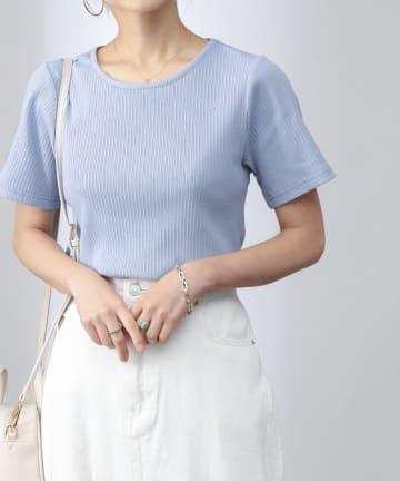 COLONY 2139(コロニー トゥーワンスリーナイン) 【UVカット】ランダムテレコバックトリム半袖Tシャツ