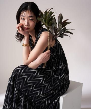 Loungedress(ラウンジドレス) 【odore/オドル】ティアードワンピース