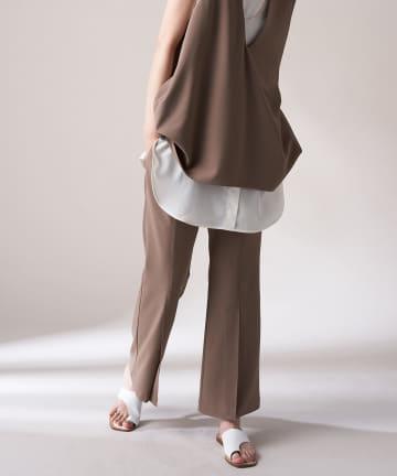 Loungedress(ラウンジドレス) 【odore/オドル】タックフレアクロップドパンツ