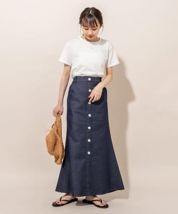 mystic(ミスティック) [mline]前ボタンマーメイドスカート