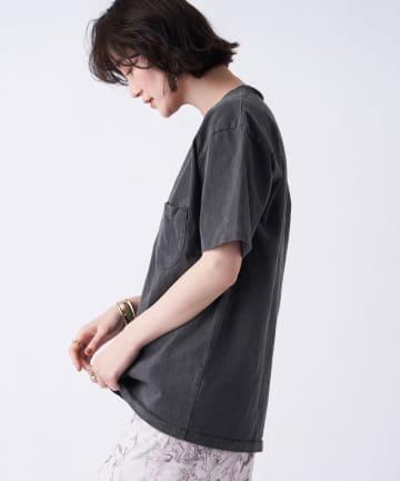 un dix cors(アンディコール) 【MIXTA(ミクスタ)】ポケット付クルーネックTシャツ