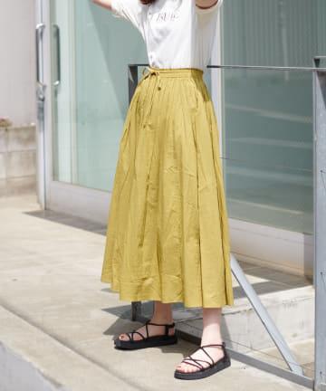 natural couture(ナチュラルクチュール) ギャザーフレアカラースカート