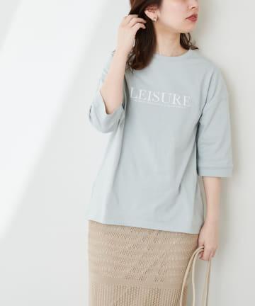 natural couture(ナチュラルクチュール) 大人ロゴ6分袖T