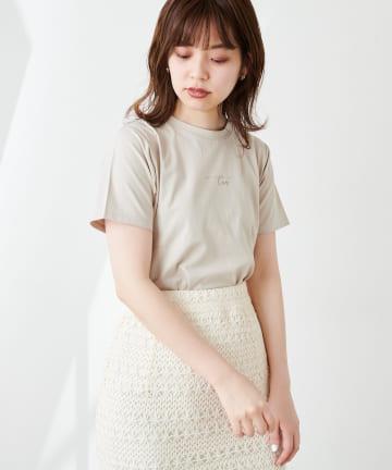 natural couture(ナチュラルクチュール) ちびロゴシルケットベーシックT