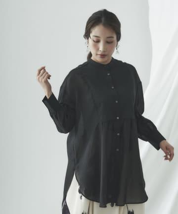 mona Belinda(モナ ベリンダ) 《期間限定タイムセール》ウェーブブザムシアーシャツ
