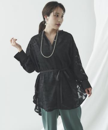 mona Belinda(モナ ベリンダ) 《期間限定タイムセール》シアージャガードバックリボンシャツ