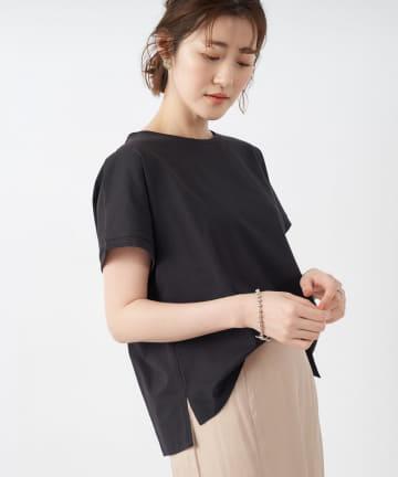 un dix cors(アンディコール) 【シルク混の上質な1枚】シルクコットンクルーネックTシャツ