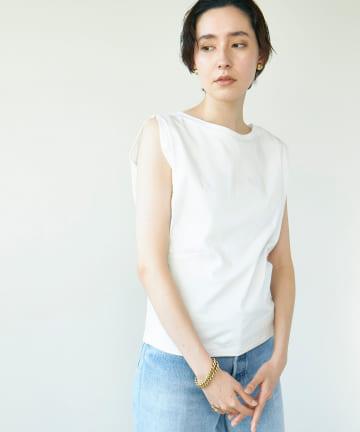 GALLARDAGALANTE(ガリャルダガランテ) スリーブタックTシャツ