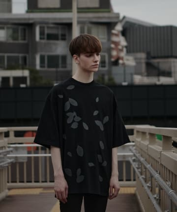 Lui's(ルイス) 【LAD MUSICIAN×Lui's】 リーフ柄スーパービッグTシャツ