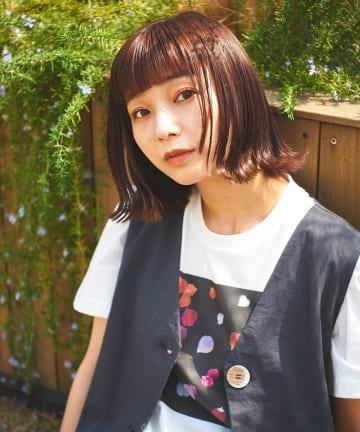 Lui's(ルイス) 【AIKA HIRANO×Lui's FEMME】Tシャツ petals