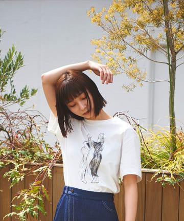 Lui's(ルイス) 【AIKA HIARANO×Lui's FEMME】Tシャツ friends