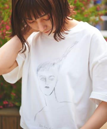 Lui's(ルイス) 【AIKA HIRANO×Lui's FEMME】Tシャツ lady hair