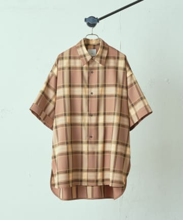 Lui's(ルイス) 5分袖ロイヤルチェックシャツ