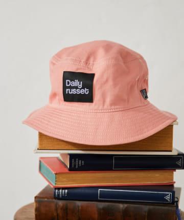 Daily russet(デイリー ラシット) 【紫外線対策】コットン ロゴバケットハット