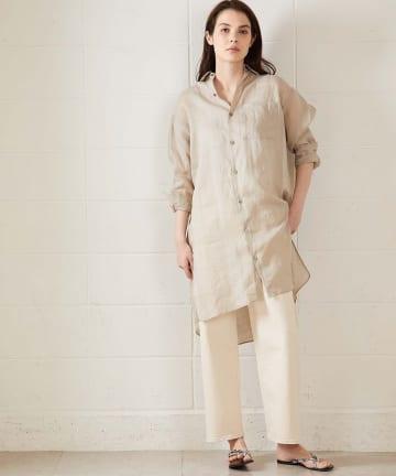 OUVRAGE CLASSE(ウヴラージュクラス) ラミーポケットチュニックシャツ