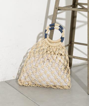 prose verse(プロズヴェール) 【巾着袋付き】手編みマクラメバッグ