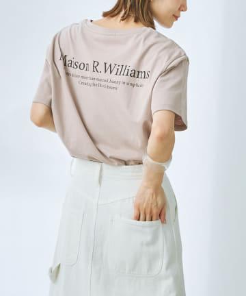 prose verse(プロズヴェール) バックロゴ裾ラウンドTシャツ