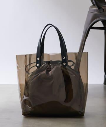 COLONY 2139(コロニー トゥーワンスリーナイン) 巾着付きクリアトートバッグ