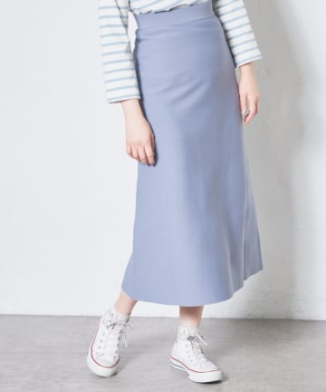 NICE CLAUP OUTLET(ナイスクラップ アウトレット) アウトリンキングきれいめニットスカート
