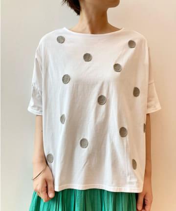 BEARDSLEY(ビアズリー) 《予約》ドット刺繍Tシャツ