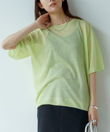 Loungedress(ラウンジドレス) シアーニットTシャツ