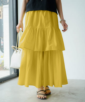 Loungedress(ラウンジドレス) エアリーティアードスカート