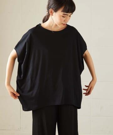 OUVRAGE CLASSE(ウヴラージュクラス) 変型ドルマンTシャツ