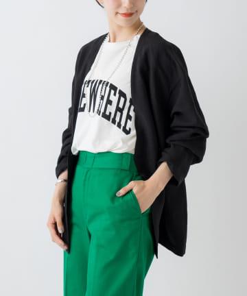 Loungedress(ラウンジドレス) リネンノーカラージャケット
