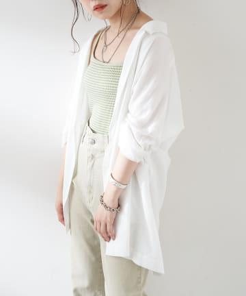 who's who Chico(フーズフーチコ) シアーシャツジャケット