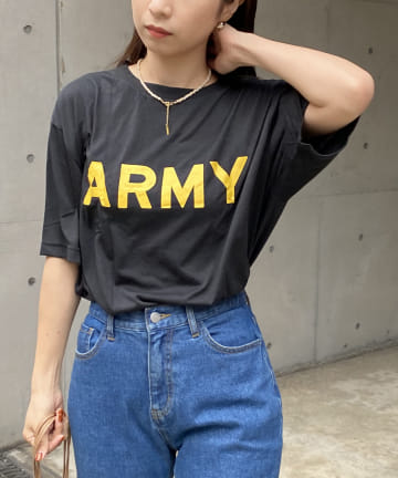 CAPRICIEUX LE'MAGE(カプリシュレマージュ) yousedデッドストックARMY T