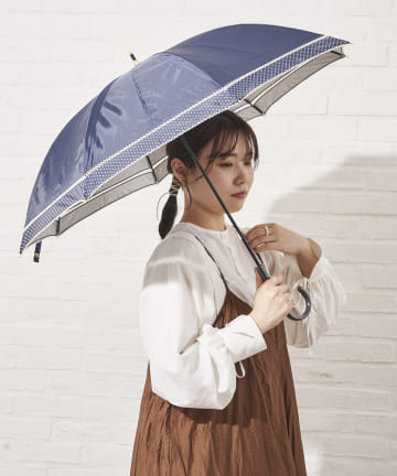salut!(サリュ) 日傘長ピコレース切継(ネイビー)